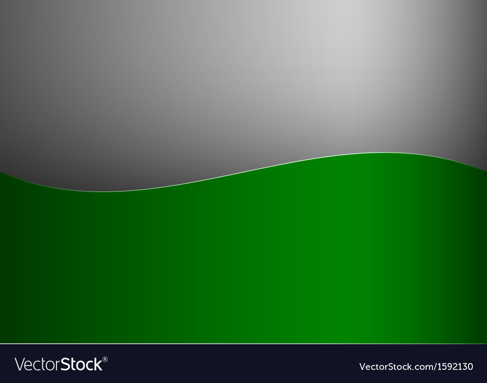 Background green stripe wave one grey vector | Price: 1 Credit (USD $1)