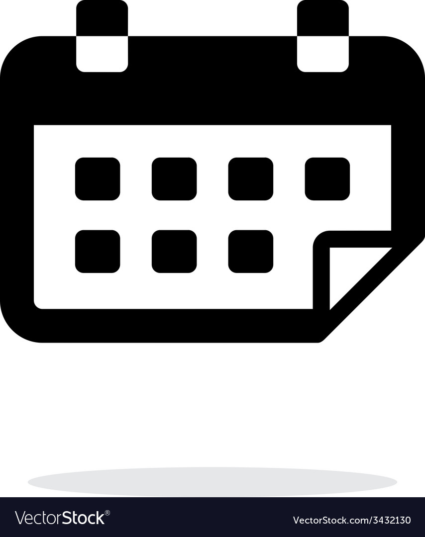Calendar flipped simple icon on white background vector   Price: 1 Credit (USD $1)
