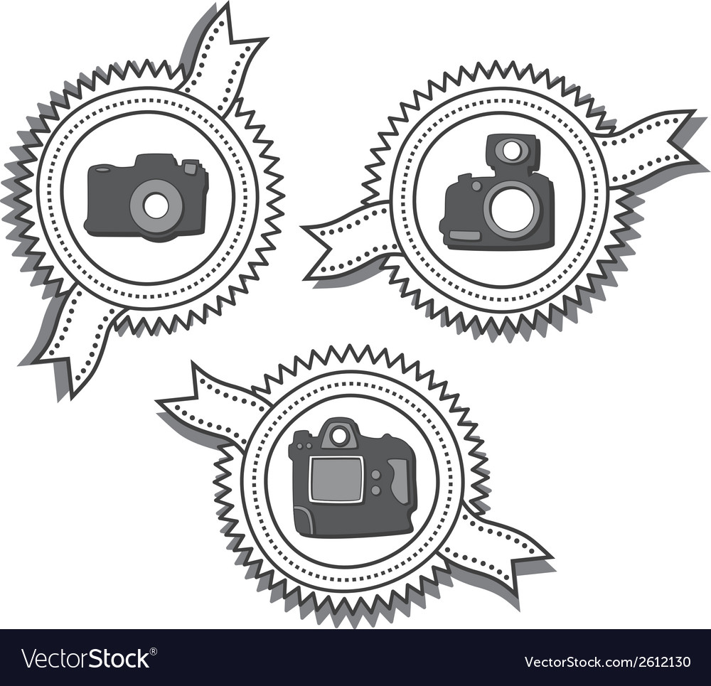 Camera label vector | Price: 1 Credit (USD $1)
