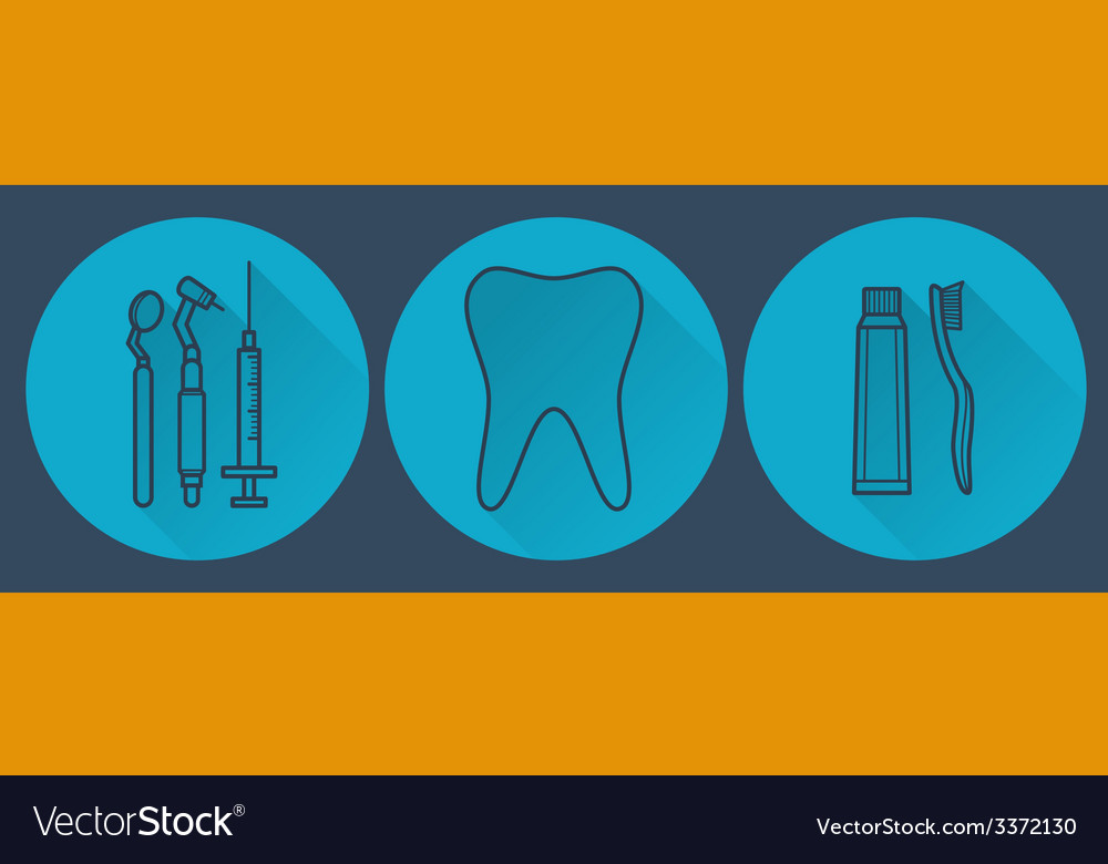 Dental flat vector | Price: 1 Credit (USD $1)
