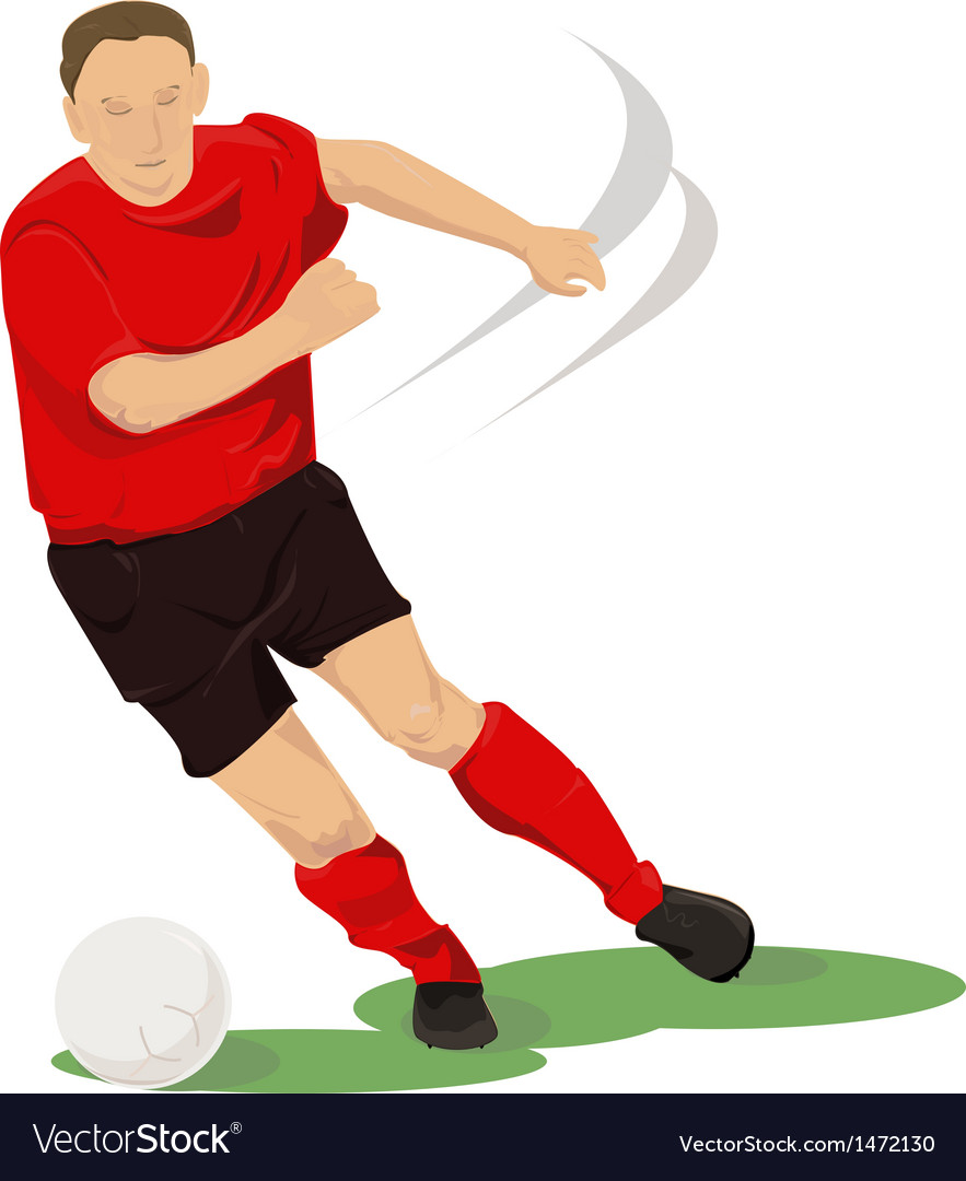 Football player in red vector | Price: 1 Credit (USD $1)