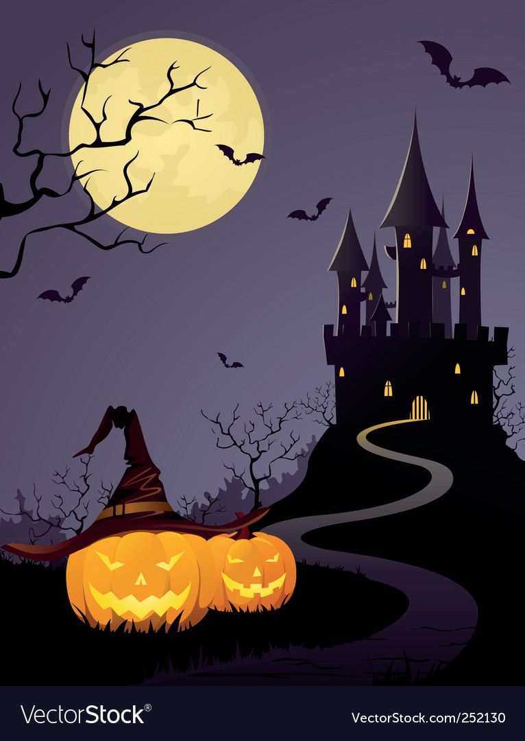 Halloween castle vector | Price: 3 Credit (USD $3)