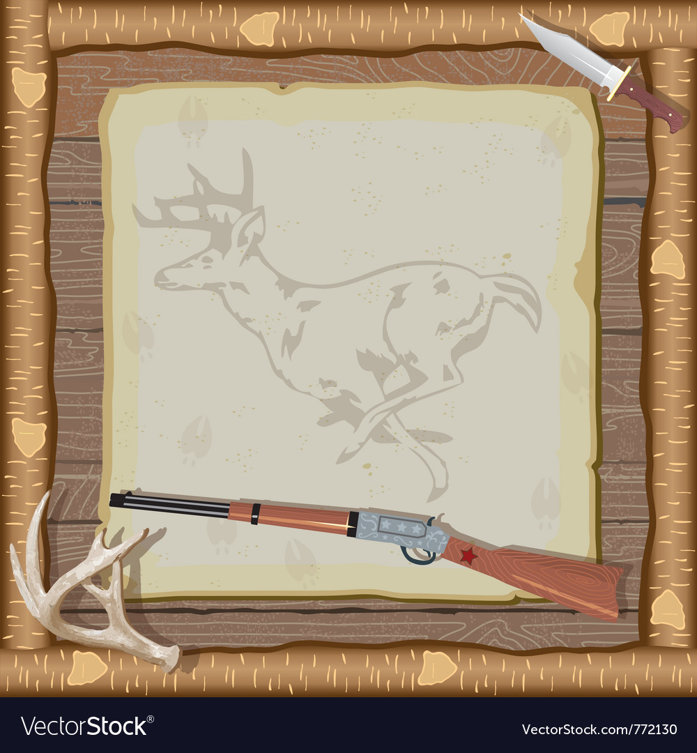 Hunting invitation vector | Price: 3 Credit (USD $3)