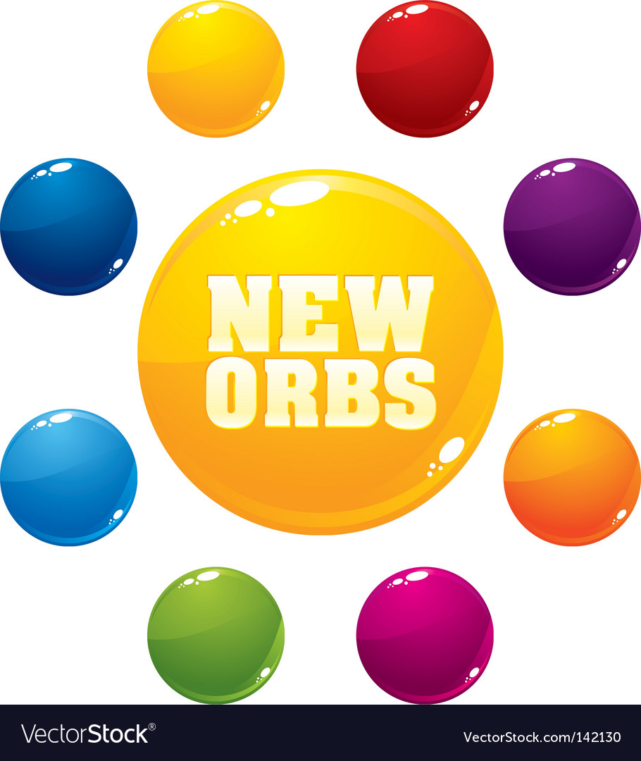 Multicolored orbs vector | Price: 1 Credit (USD $1)