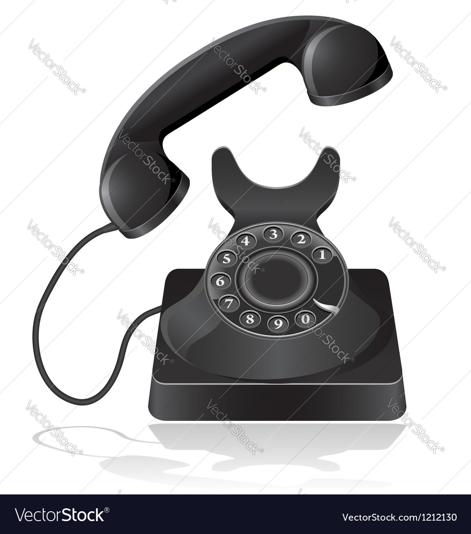 Old phone 02 vector | Price: 3 Credit (USD $3)