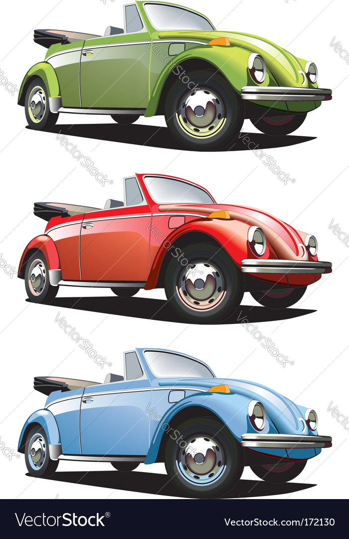 Old-fashioned roadster vector | Price: 3 Credit (USD $3)