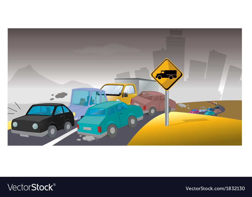 Pollution traffic vector | Price: 1 Credit (USD $1)