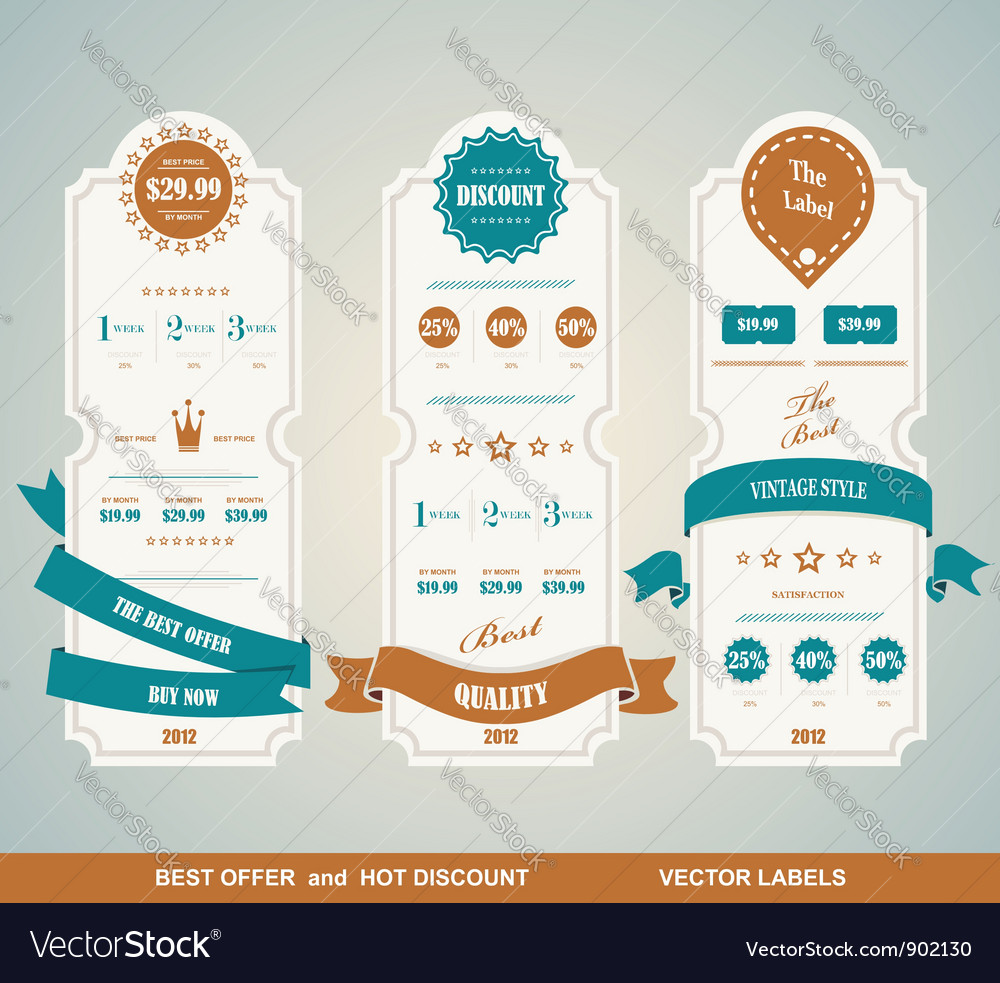 Price table vintage vector | Price: 3 Credit (USD $3)