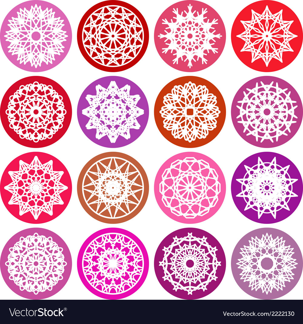 Round ornament set vector | Price: 1 Credit (USD $1)