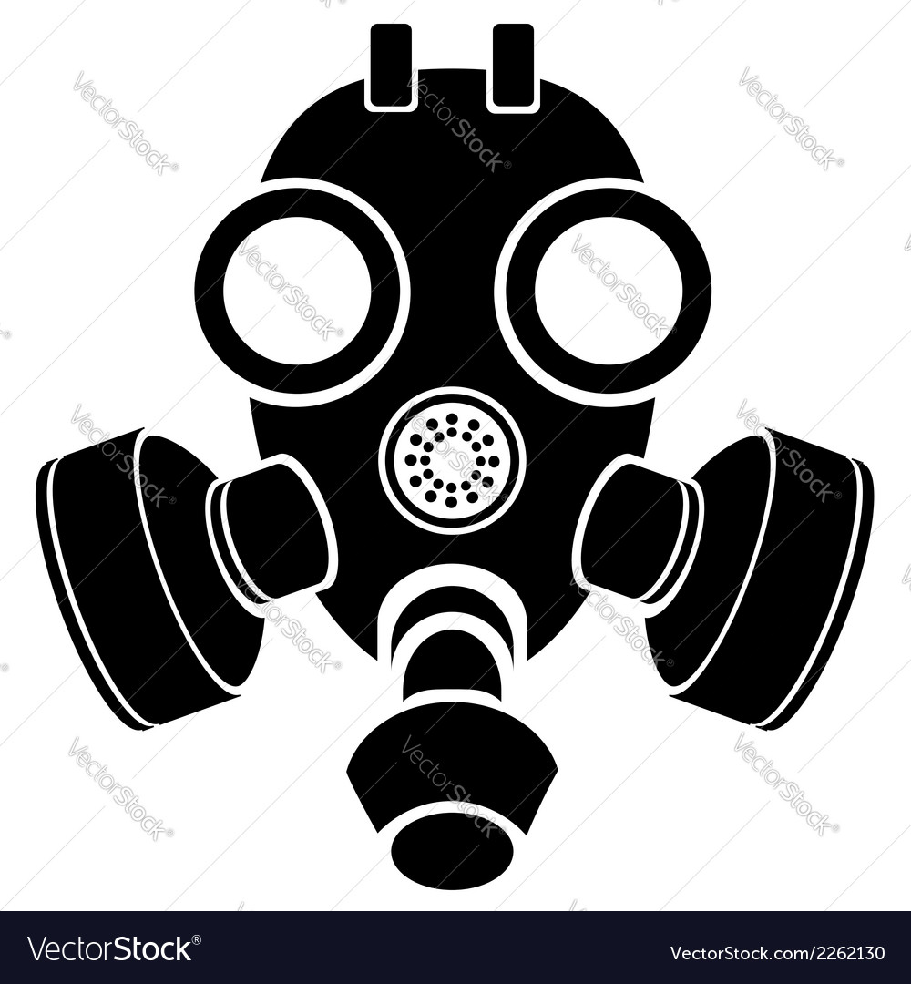 Silhouette of gas mask vector | Price: 1 Credit (USD $1)