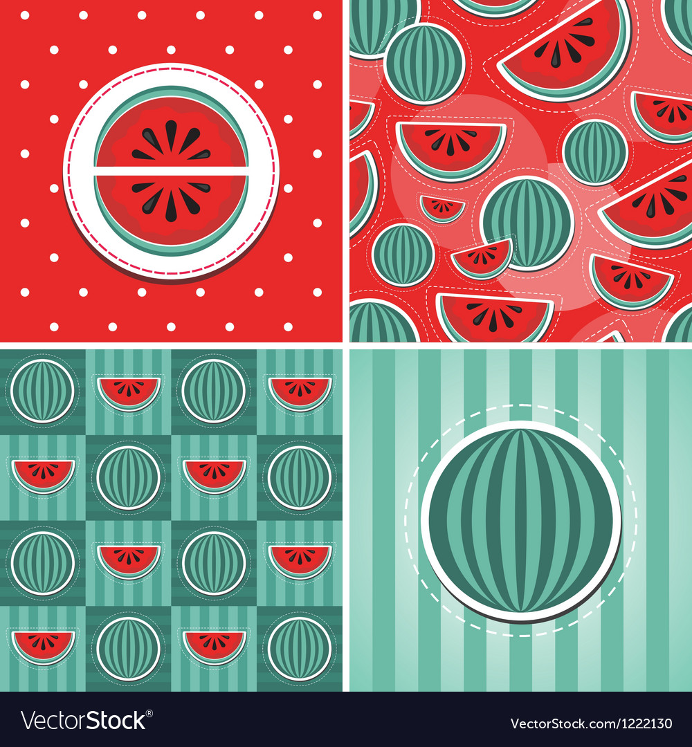 Watermelon pattern vector | Price: 1 Credit (USD $1)