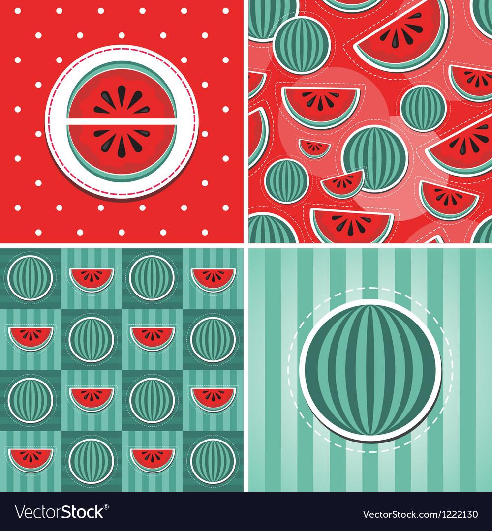 Watermelon pattern vector | Price: 1 Credit (USD $1)