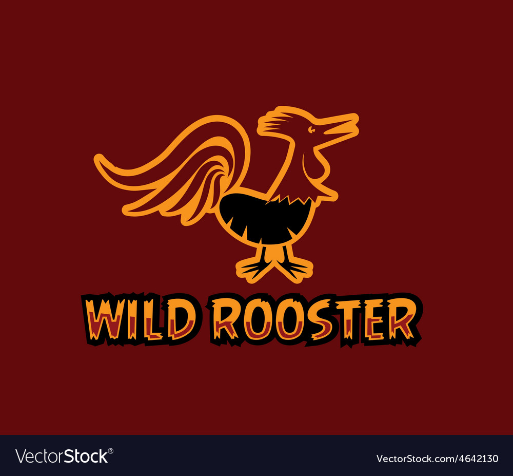 Wild rooster vector   Price: 1 Credit (USD $1)