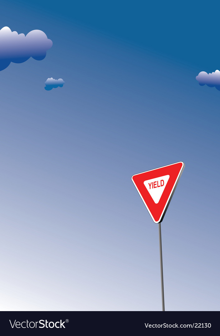 Yield traffic sign vector | Price: 1 Credit (USD $1)