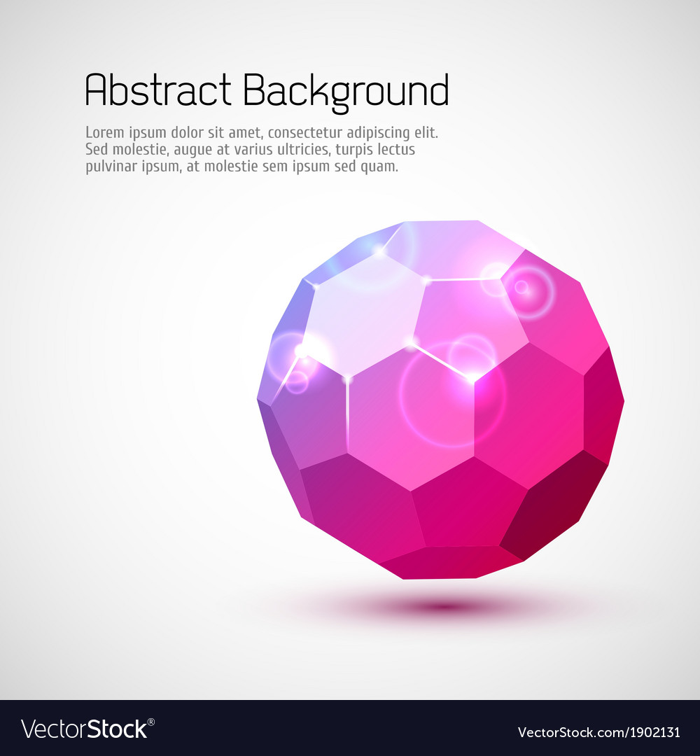 Abstract 3-dimensional background vector | Price: 1 Credit (USD $1)