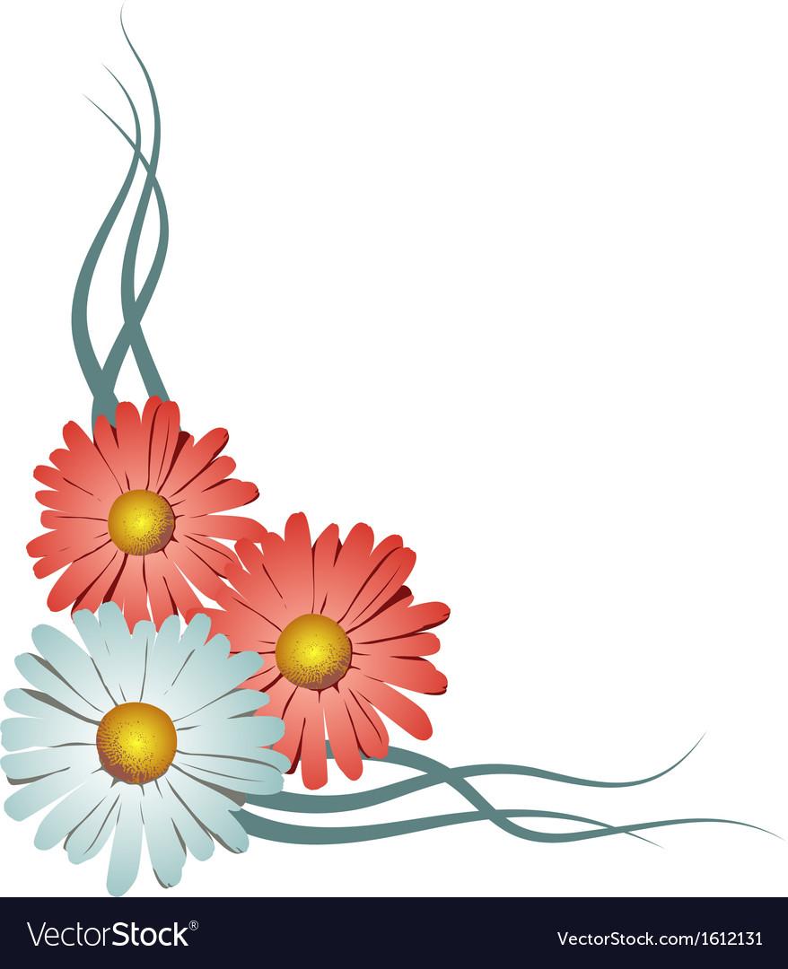 Floral corner vignette vector | Price: 1 Credit (USD $1)