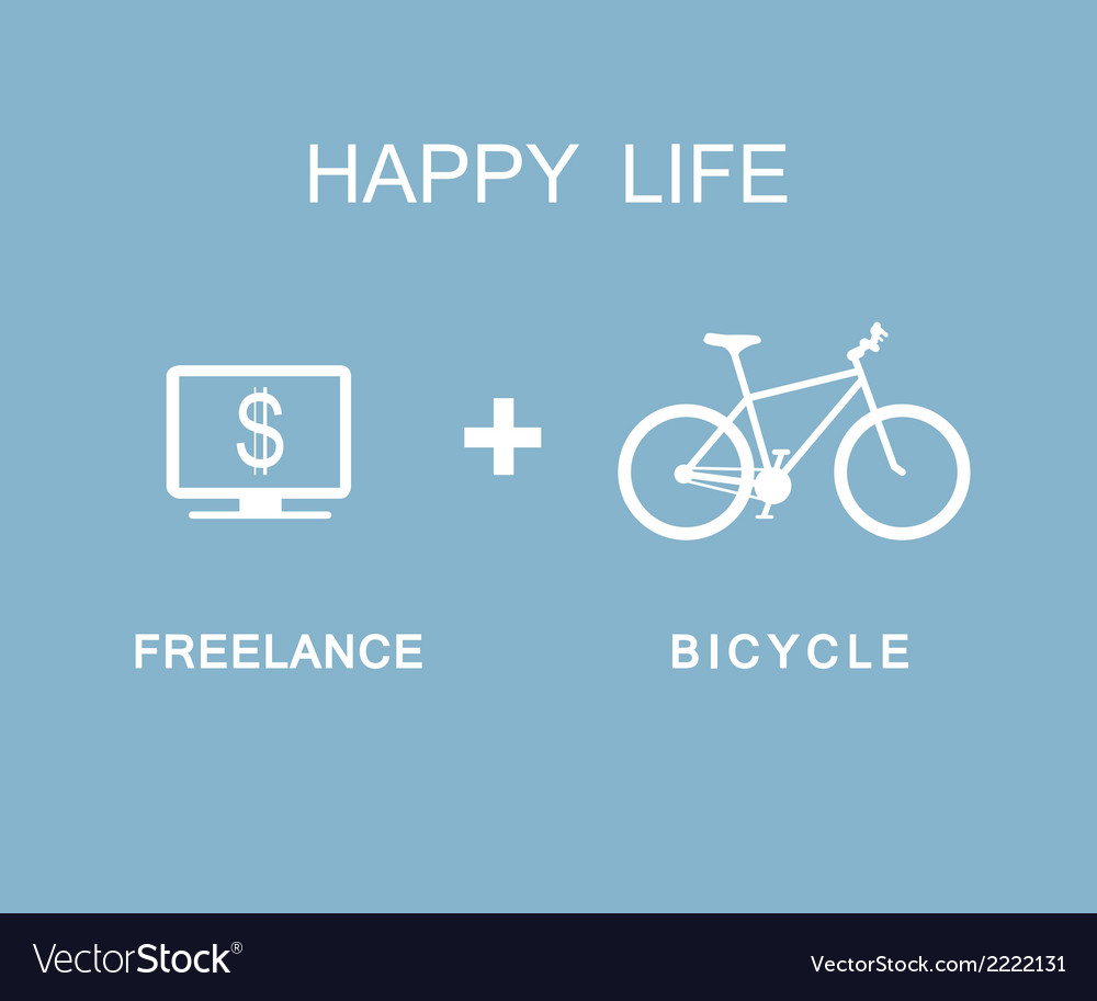 Freelance and bicycle infographic vector   Price: 1 Credit (USD $1)