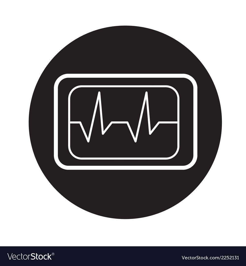 Heart beat icon vector | Price: 1 Credit (USD $1)