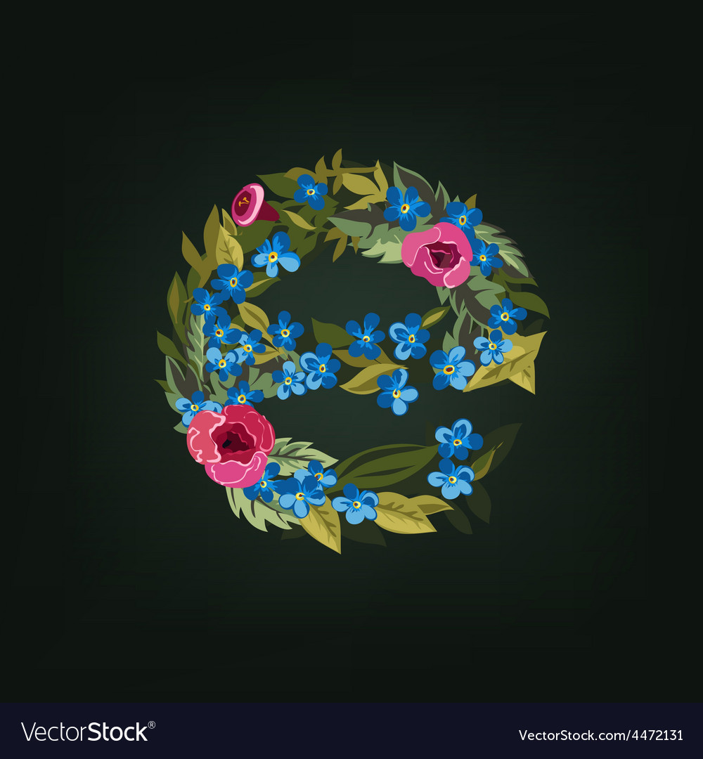 Letter flower alphabet colorful font vector   Price: 1 Credit (USD $1)
