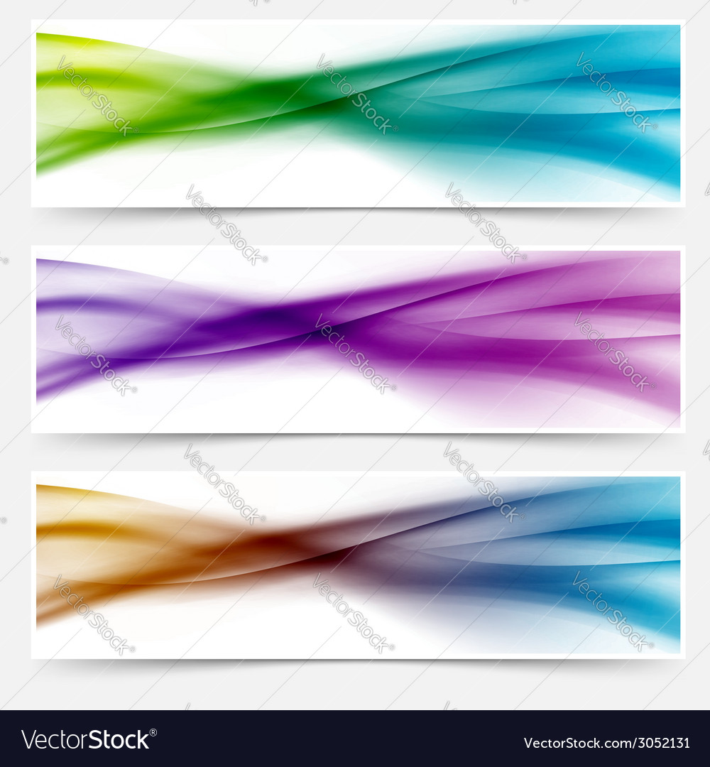 Liquid swoosh lines web headers or footers vector | Price: 1 Credit (USD $1)