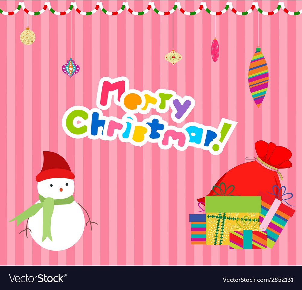 Merry christmas card background 1 vector | Price: 1 Credit (USD $1)