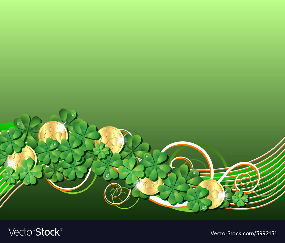 Patricks day card vector