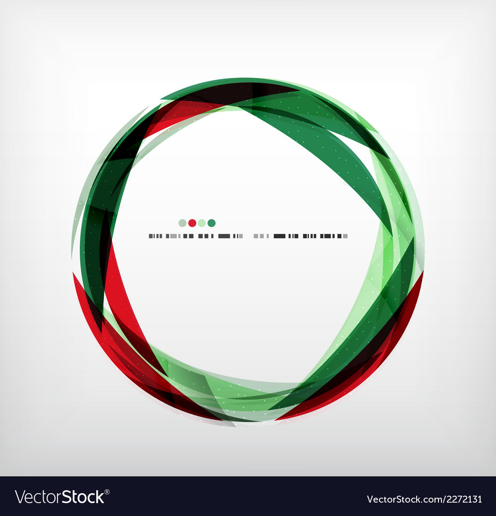 Red green ring - business abstract bubble vector | Price: 1 Credit (USD $1)