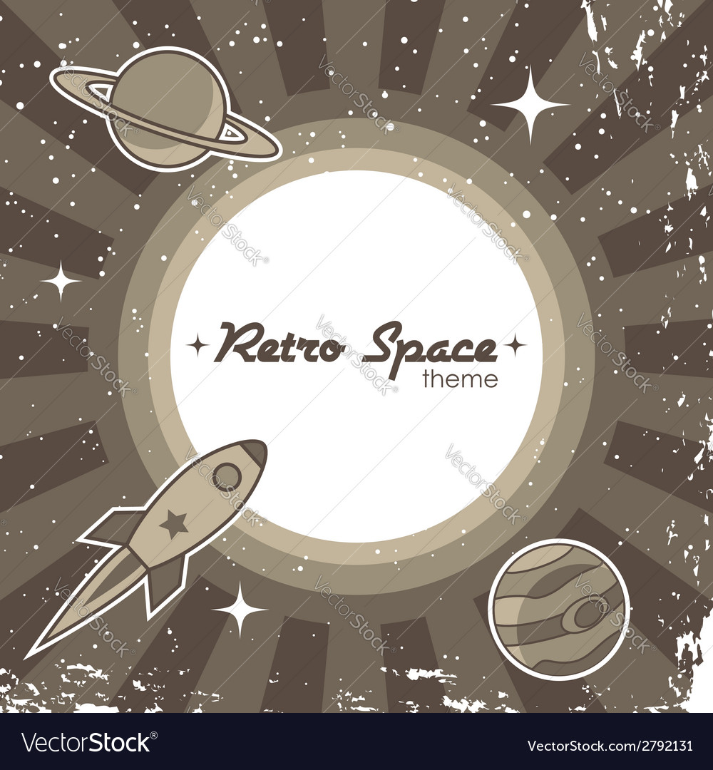 Retro space theme vector | Price: 1 Credit (USD $1)