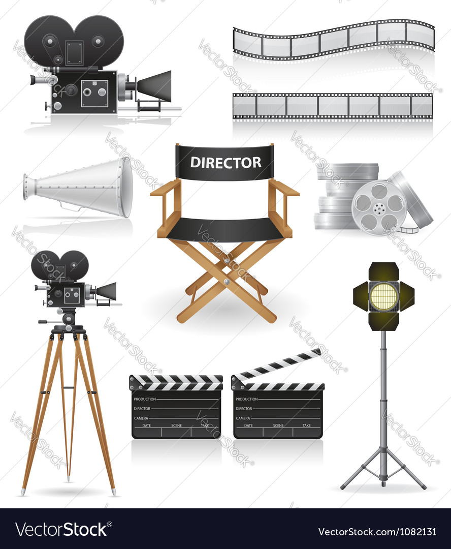 Set icons cinema 04 vector | Price: 3 Credit (USD $3)