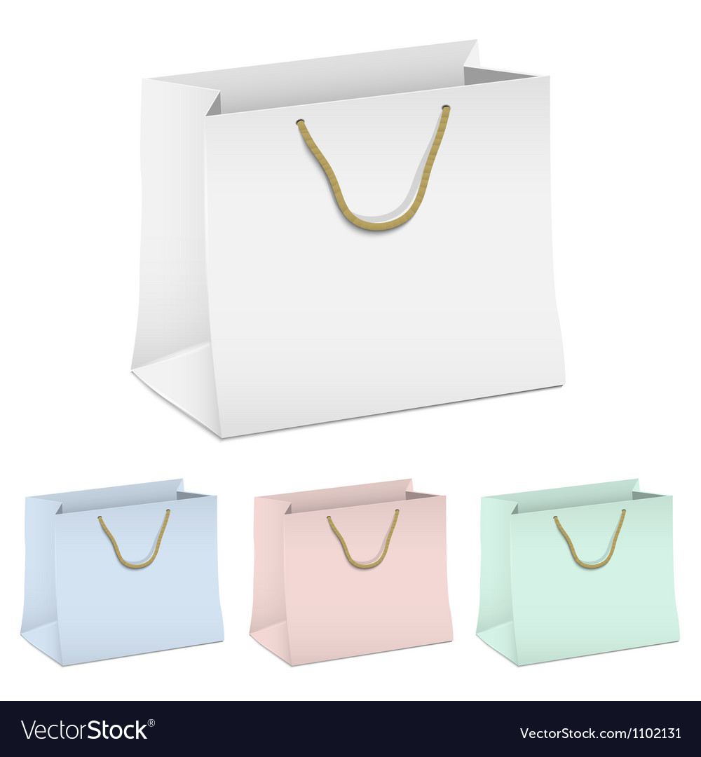 Set of empty shopping paper bags vector | Price: 1 Credit (USD $1)