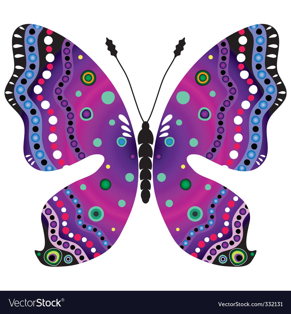 Violet and black butterfly vector | Price: 1 Credit (USD $1)
