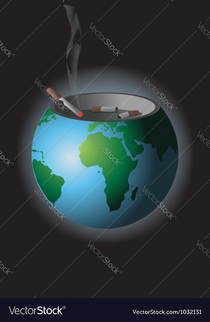 We are polluting the earth vector | Price: 1 Credit (USD $1)