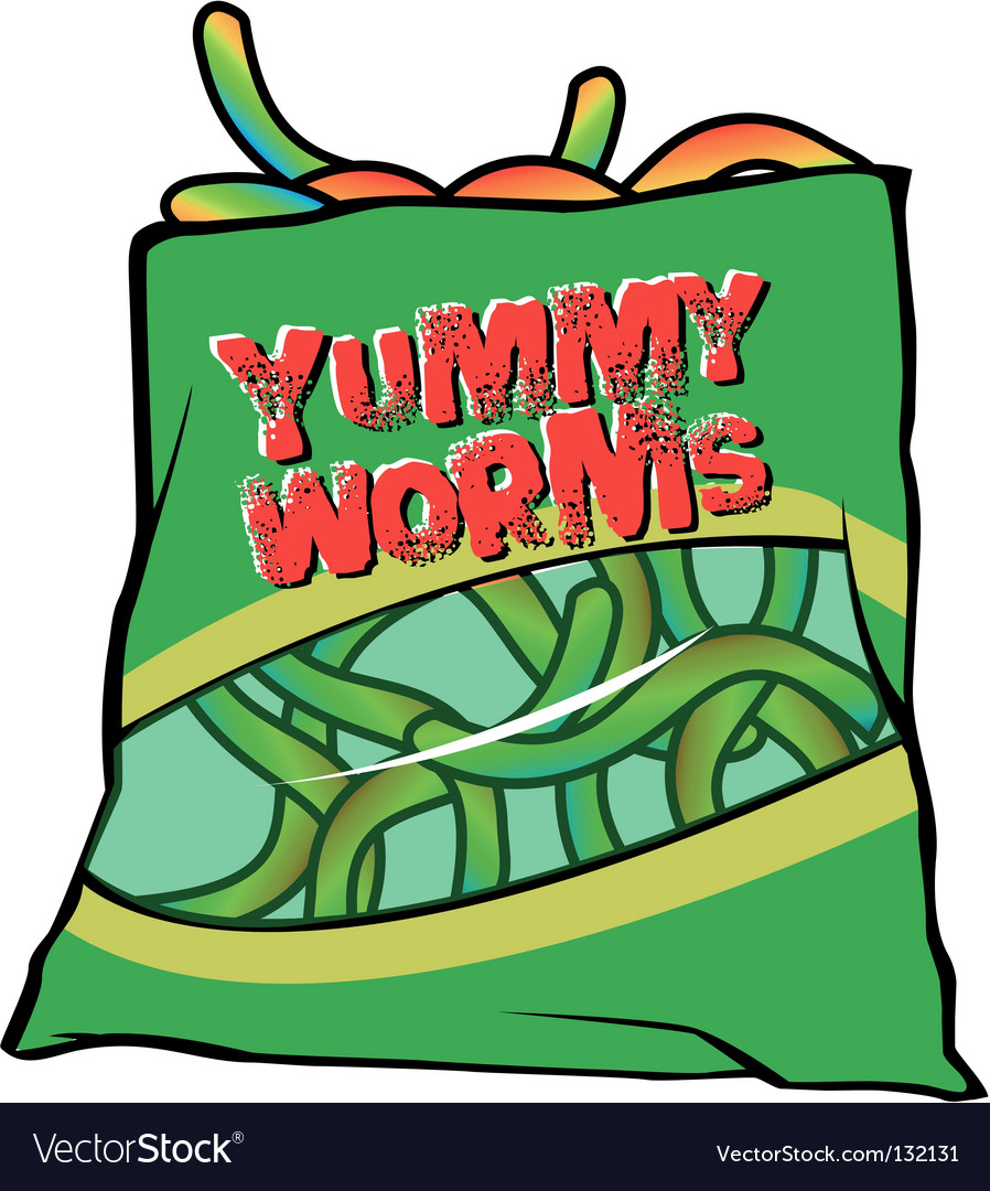 Yummy worms candy vector | Price: 1 Credit (USD $1)