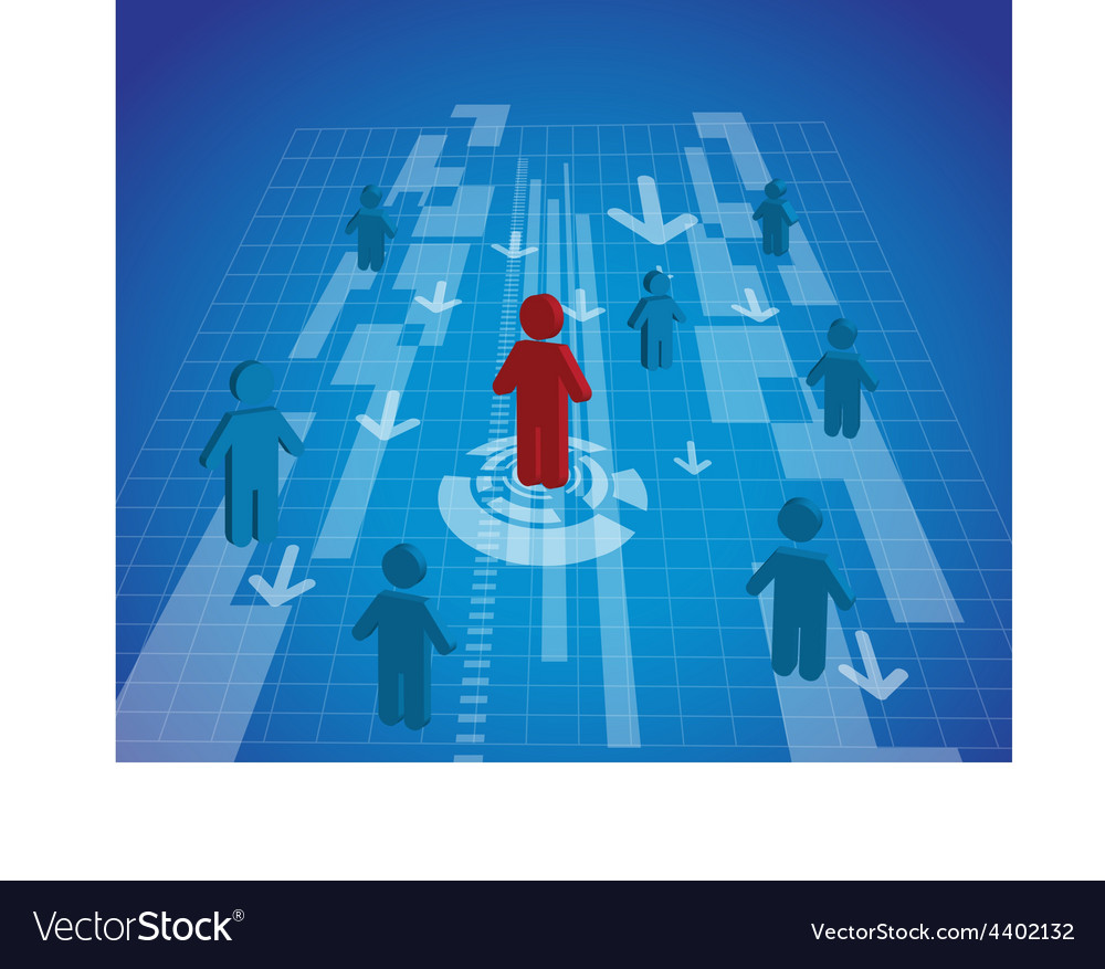 A man standing icon out from the crowd vector   Price: 1 Credit (USD $1)