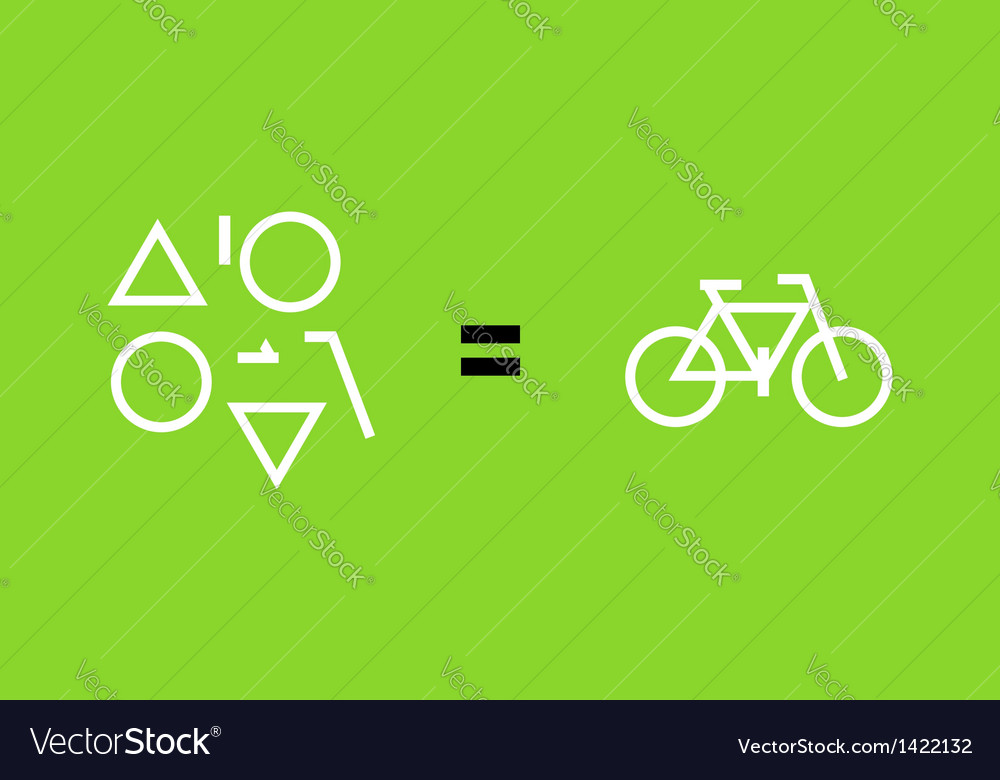 Bicycle as a result of geometric shapes vector | Price: 1 Credit (USD $1)