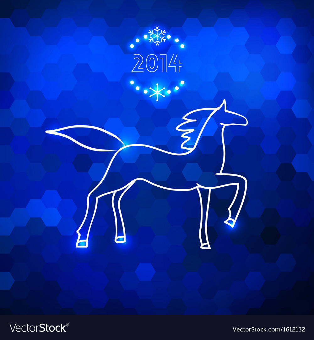 Blue geometric horse silhouette vector | Price: 1 Credit (USD $1)