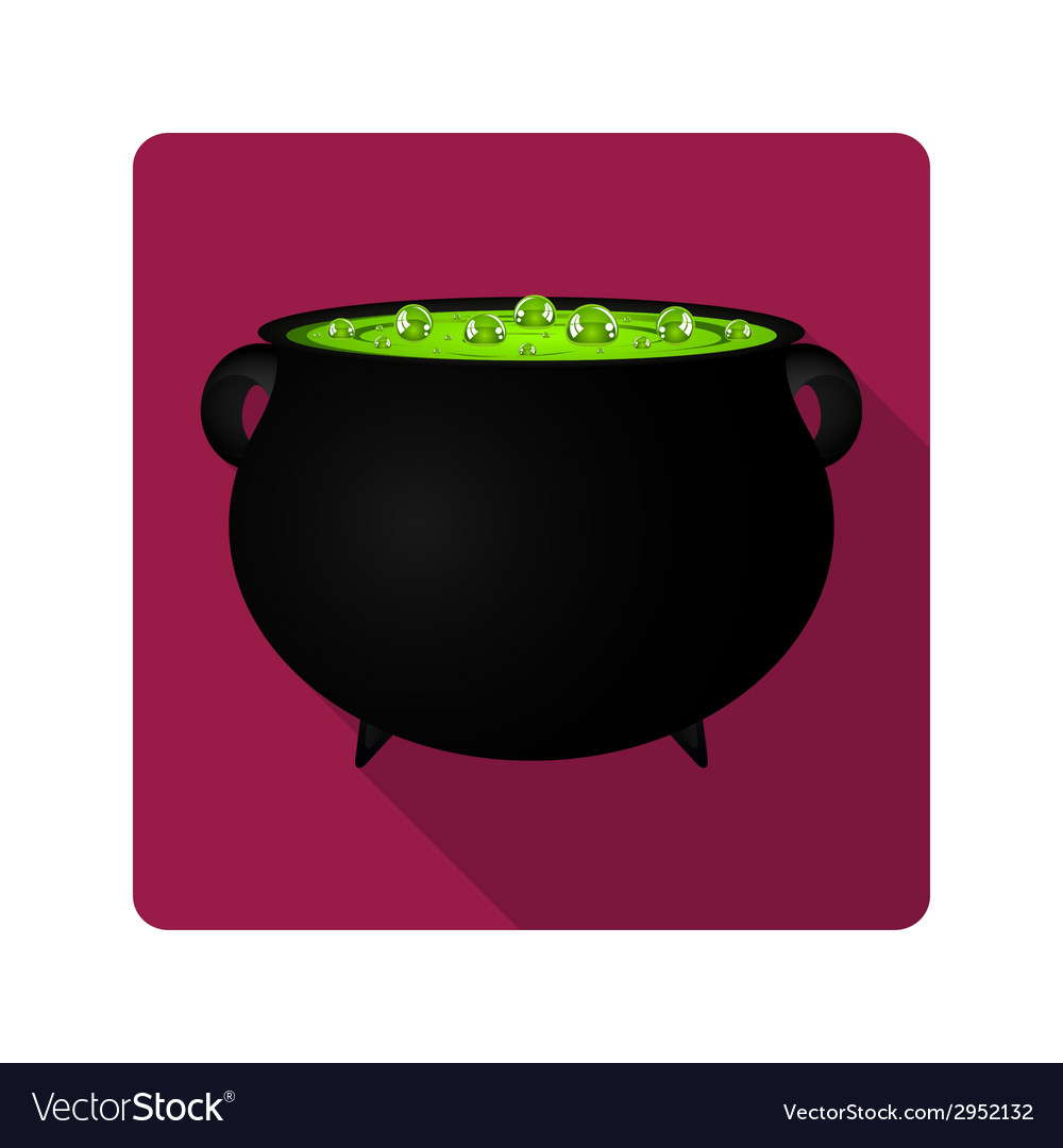 Cauldron witches potion for halloween vector | Price: 1 Credit (USD $1)