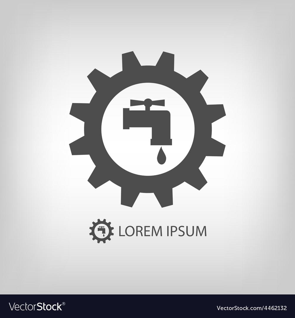 Grey plumbing logo vector | Price: 1 Credit (USD $1)
