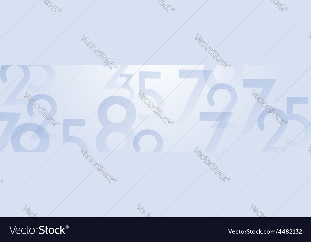 Numbers panoramic background vector | Price: 1 Credit (USD $1)