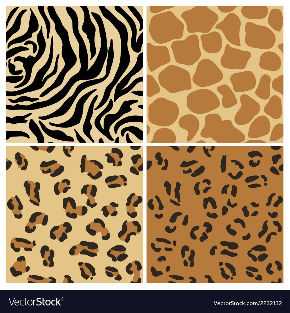 Set of animal patterns vector | Price: 1 Credit (USD $1)