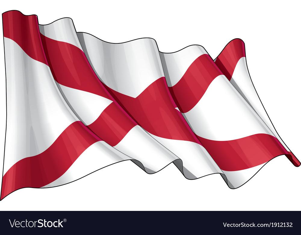 St patricks saltire northern irish flag vector | Price: 1 Credit (USD $1)