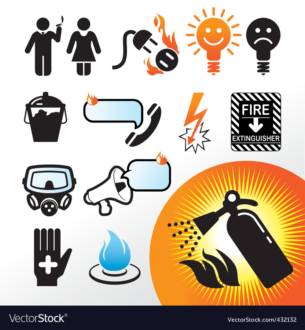 Symbol extinguisher vector | Price: 1 Credit (USD $1)