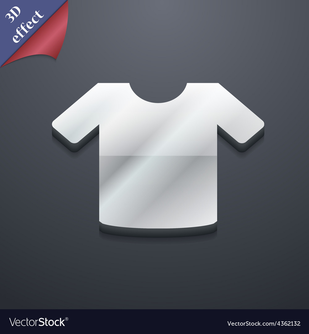 T-shirt clothes icon symbol 3d style trendy modern vector | Price: 1 Credit (USD $1)