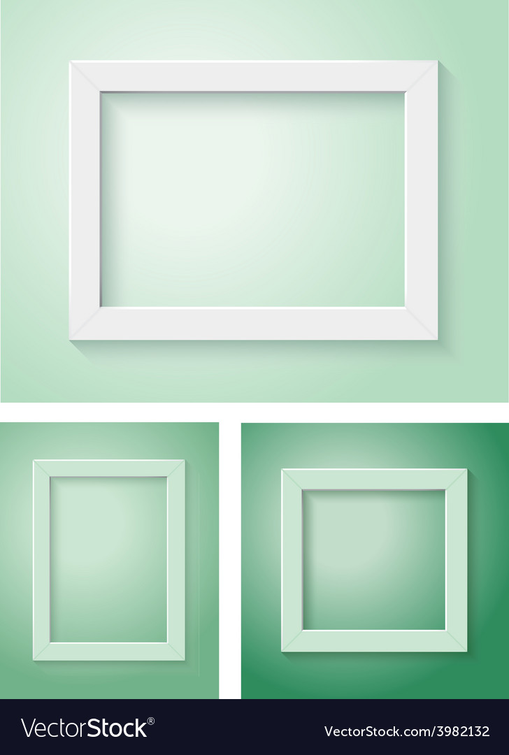 White and green frame set vector | Price: 1 Credit (USD $1)
