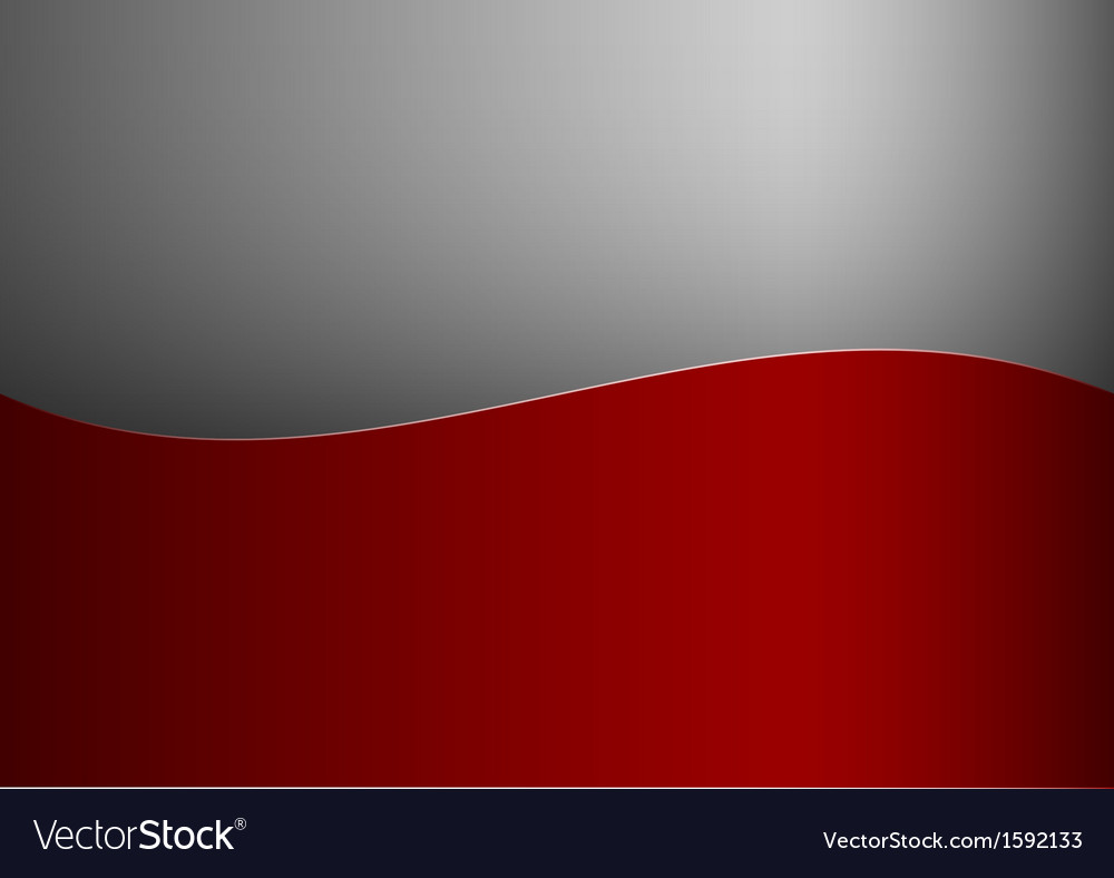 Background red stripe wave one grey vector | Price: 1 Credit (USD $1)