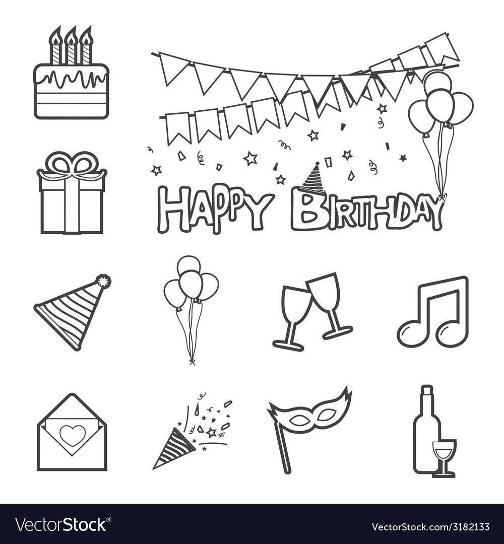 Birthday icon vector | Price: 1 Credit (USD $1)