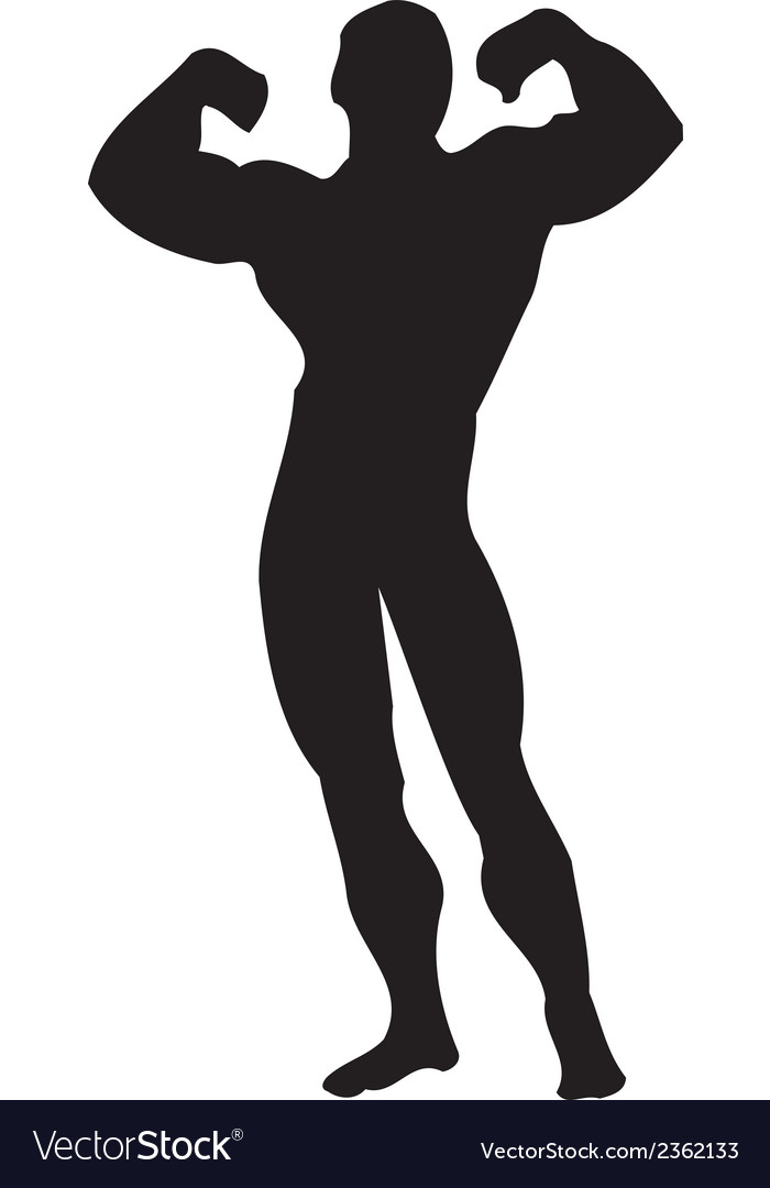 Body builder muscle clipart design vector | Price: 1 Credit (USD $1)