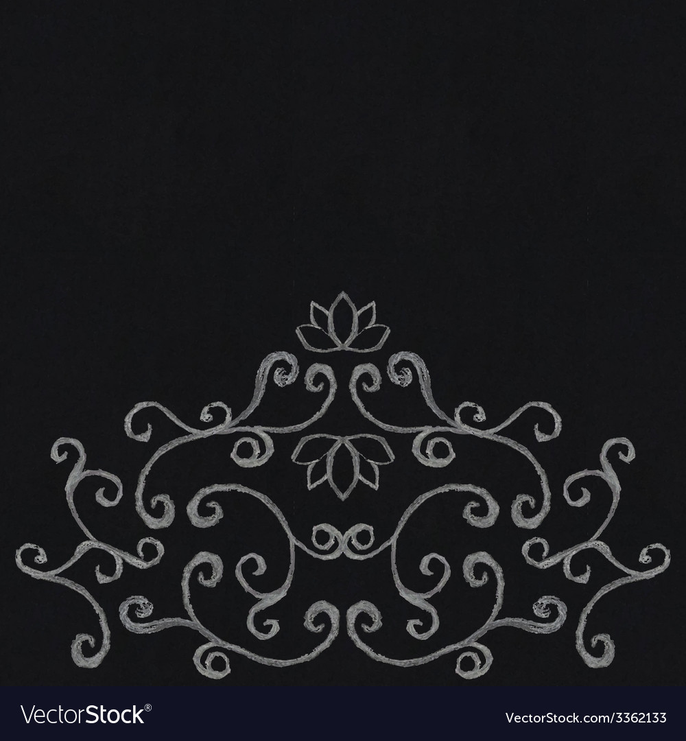 Chalk decorative ornament vector | Price: 1 Credit (USD $1)