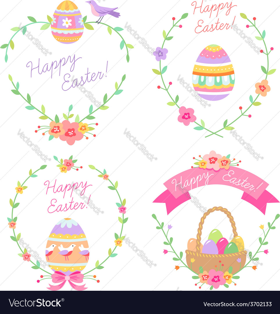 Easter frames cute vector | Price: 1 Credit (USD $1)