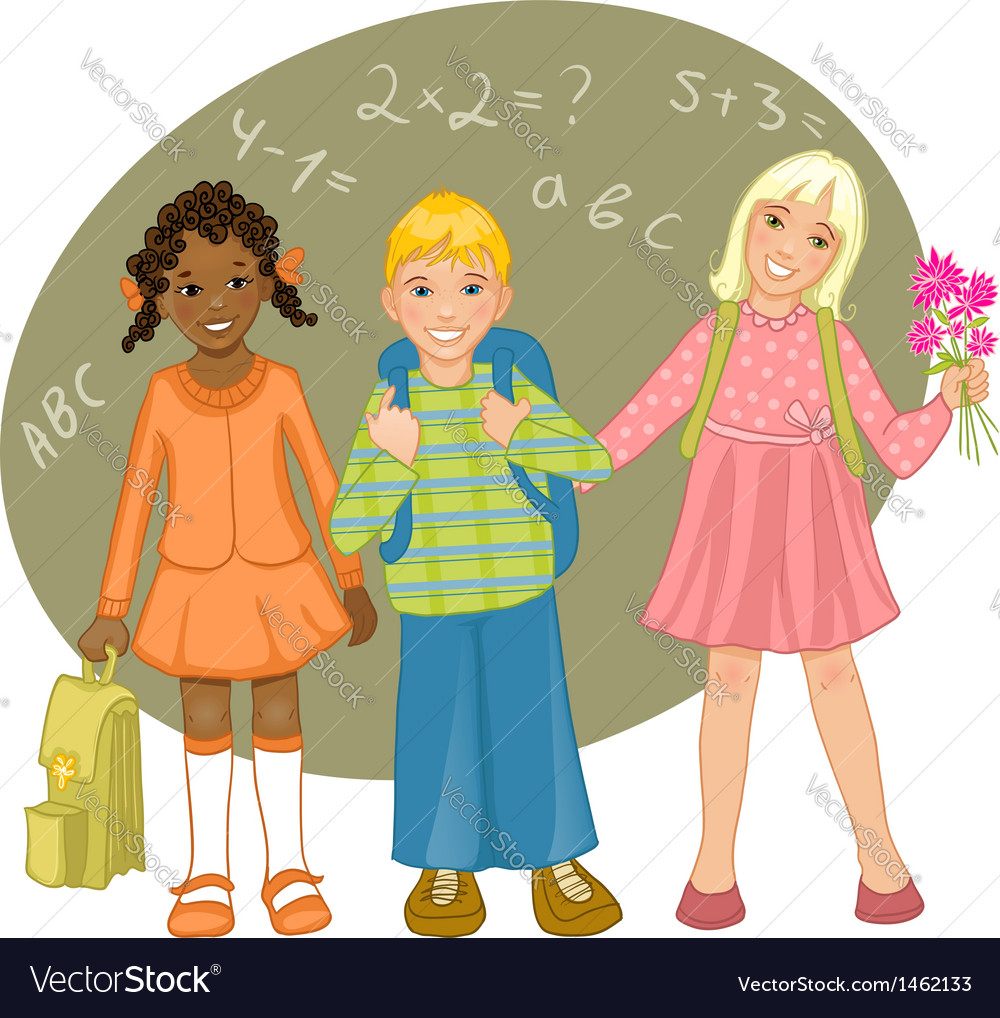 Group of children vector | Price: 1 Credit (USD $1)
